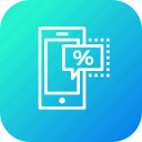 device, discount, ecommerce, finance, mobile, profit, sale icon