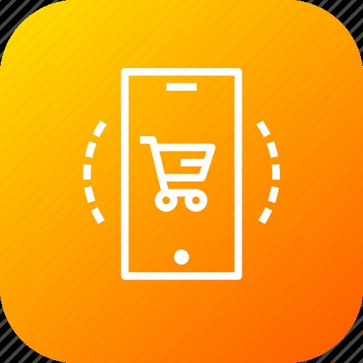 cart, discount, ecommerce, finance, mobile, profit, shop icon