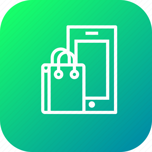 carrybag, cart, handbag, mobile, sale, sell, shopping icon