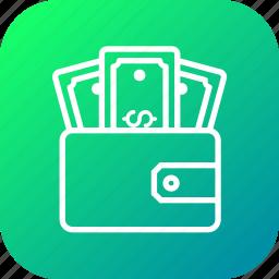 dollar, finance, money, pocket, purse, wallet icon