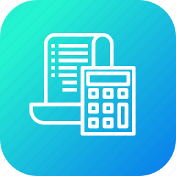 amount, bill, calc, calculation, ecommerce, finance, reciept icon