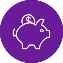 money, piggy bank, savings icon