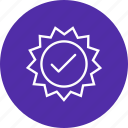 stamp, valid badge, valid stamp icon