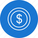 business, coins, dollar, finance icon