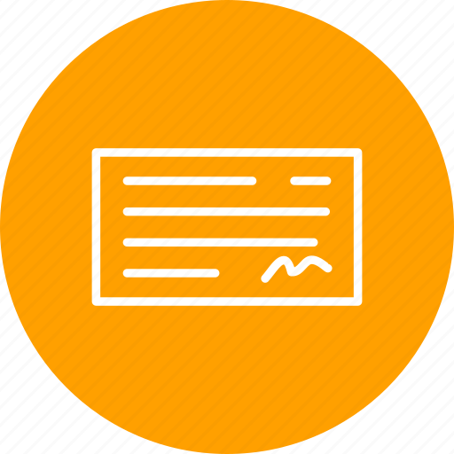 cheque, cheque book, payment icon