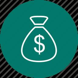 money bag, money sack, sack icon