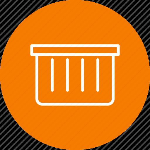 basket, dust bin, recyle bin icon
