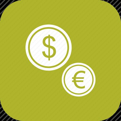 dollar, euro, set, stamp, yen icon
