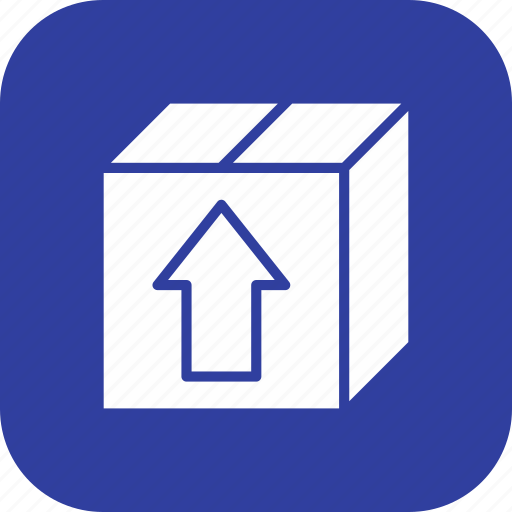 box, cargo box, package, parcel icon