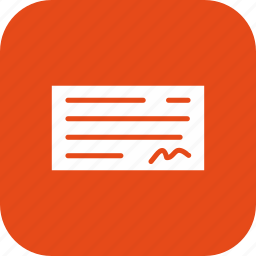 banking, cheque, cheque book, payment icon