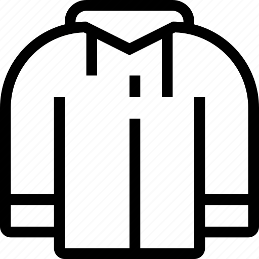 clothing, coat, jacket, man, racket icon