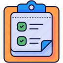 clipboard, checking, checklist, list, check
