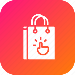 bag, cart, click, gesture, hand, online, shop icon