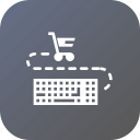 cart, finance, input, keyboard, sale, shopping icon