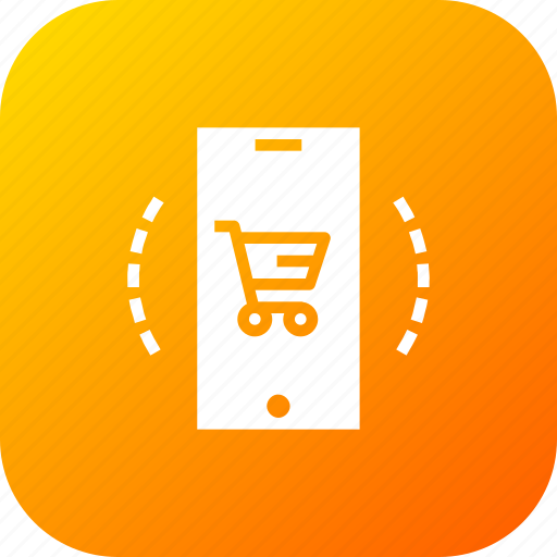 cart, device, ecommerce, finance, mobile, offer, profit icon