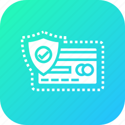 card, credit, lock, protect, safety, secure, transaction icon