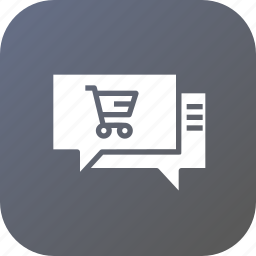 chat, ecommerce, laptop, mail, notification, offer, shopping icon