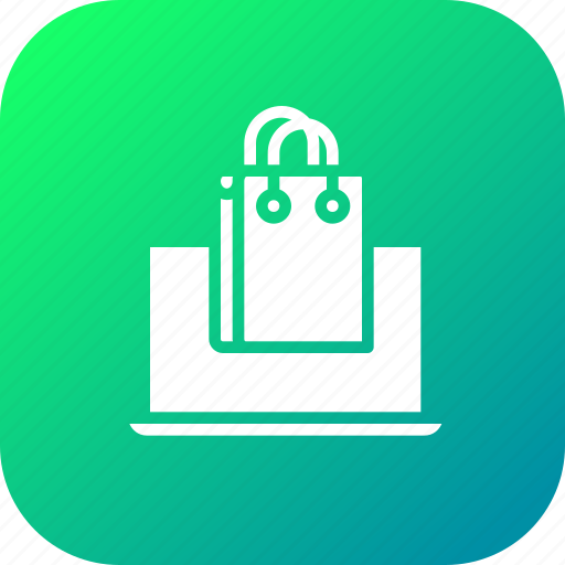 carrybag, handbag, laptop, phone, sale, shop, shopping icon