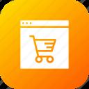 cart, finance, offer, profit, sale, shop, window icon
