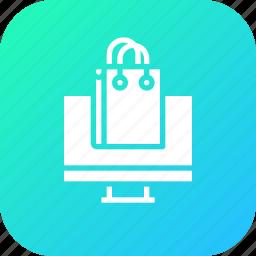 carrybag, cart, handbag, laptop, sale, sell, shopping icon
