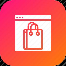 carrybag, handbag, sale, sell, shop, shopping, window icon