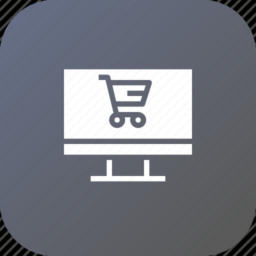 cart, discount, ecommerce, finance, laptop, profit, sale icon