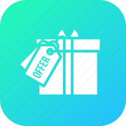 award, festival, gift, offer, prize, surprize, tag icon