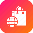 carrybag, cart, ecommerce, finance, internet, shopping, world icon