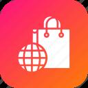 carrybag, cart, ecommerce, finance, internet, shopping, world icon