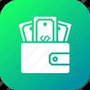 dollar, ecommerce, finance, money, pocket, purse, wallet icon