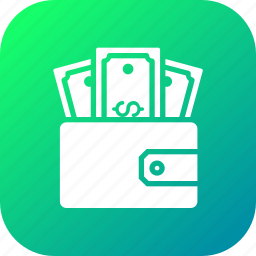 dollar, ecommerce, finance, money, pocket, purse, wallet icon