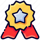 award, badge, bukeicon, medal, star