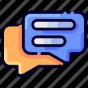 bukeicon, chat, conversation, discussion, ecommerce, online, shop