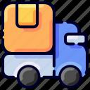 box, bukeicon, delivery, ecommerce, ship, truck