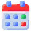 bukeicon, calendar, delivery, ecommerce, schedule, time icon