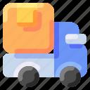 box, bukeicon, delivery, ecommerce, ship, truck icon