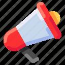 advertising, bukeicon, commerce, ecommerce, megaphone, promotion icon