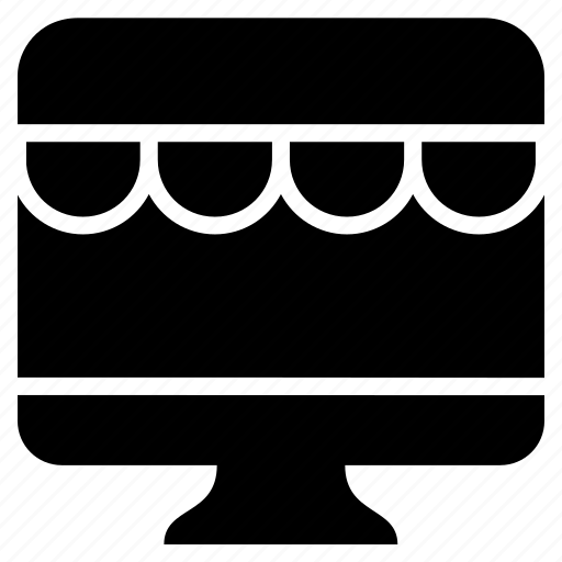 bukeicon, computer, ecommerce, marketplace, monitor, shop icon