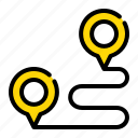 route, location, map, ecommerce, pin