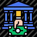 bank, banknote, borrow, interest icon