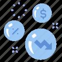 bubble, business, crisis, economic, finance, investment, money icon