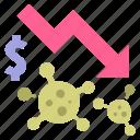 business, coronavirus, covid, economic, economy, money, virus icon