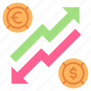 currency, economy, exchange, finance, investment, money, rate icon