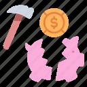 bank, coin, economy, finance, piggy, save, savings icon