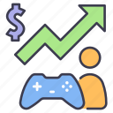 business, game, growth, increase, investment, rise, up icon