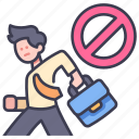 business, home, people, safety, stop, work, worker icon