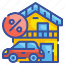 business, estate, financial, loan, money, mortgage, property icon