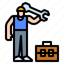 briefcase, construction, labor, worker, working