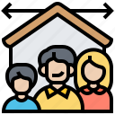 building, capacity, family, house, size icon