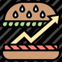 buyer, consumption, demand, food, increase icon